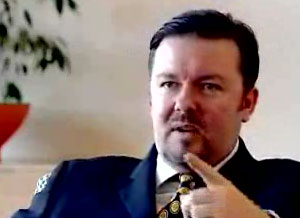 Ricky Gervais helps out with training at Microsoft