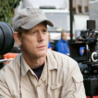 Ron Howard on the set